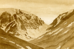 The Window, Creag Meagaidh (Oak Gall Ink)