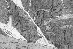 Raeburns Gully, Pinnacle Buttress, Coire Ardair